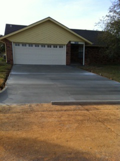 New Driveway and Sidewalk
